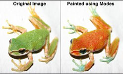 Painting with blend modes